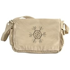 Silver and Gold Snowflake Messenger Bag