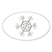 Silver and Gold Snowflake Decal