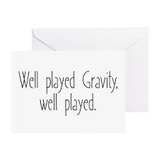 Gravity Games Greeting Card