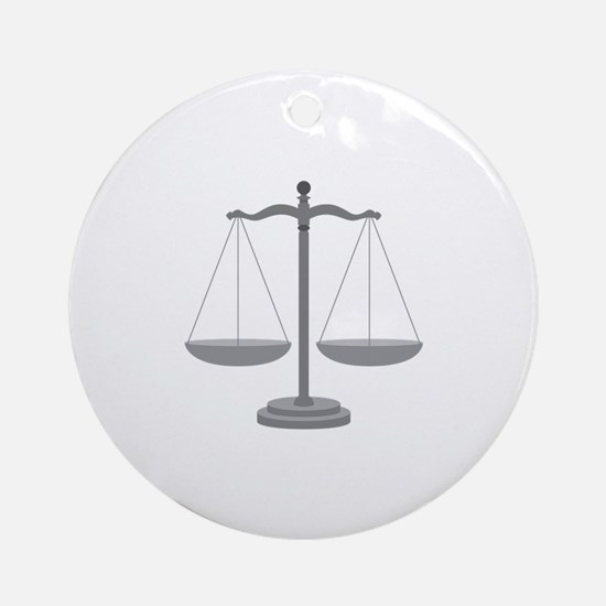 Balance Scale Ornament (Round)