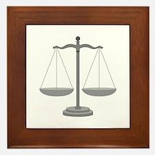 Balance Scale Framed Tile