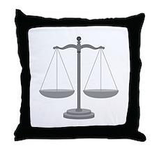 Balance Scale Throw Pillow