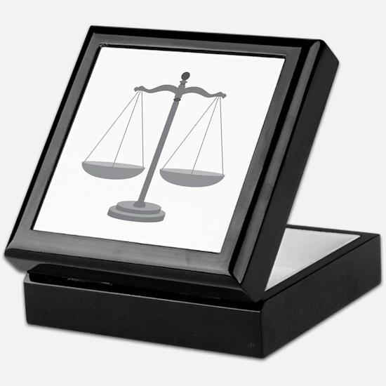 Balance Scale Keepsake Box