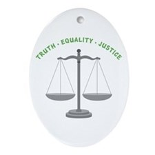 Truth-Equality-Justice Ornament (Oval)