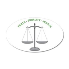Truth-Equality-Justice Wall Decal