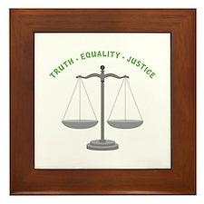 Truth-Equality-Justice Framed Tile