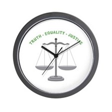Truth-Equality-Justice Wall Clock