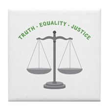 Truth-Equality-Justice Tile Coaster