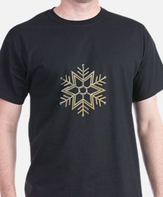 Gold and Silver Snowflake T-Shirt