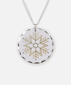 Gold and Silver Snowflake Necklace