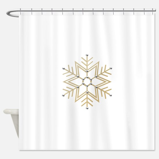 gold and silver shower curtain. Gold and Silver Snowflake Shower Curtain Curtains  CafePress
