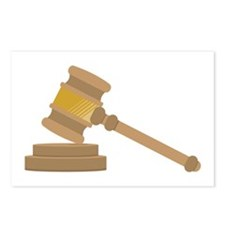 Judges Gavel Postcards (Package of 8)