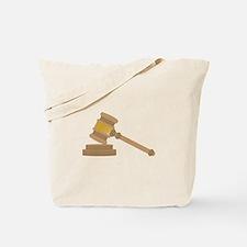 Judges Gavel Tote Bag