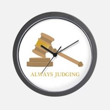 Always Judging Wall Clock