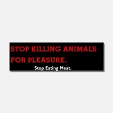 Stop Eating Meat Car Magnet 10 X 3