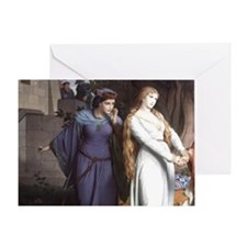 19th cent. painting. Tristan bids Is Greeting Card