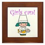 Girl Chef Framed Tile