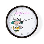 Girl Chef Wall Clock