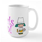 Girl Chef Large Mug