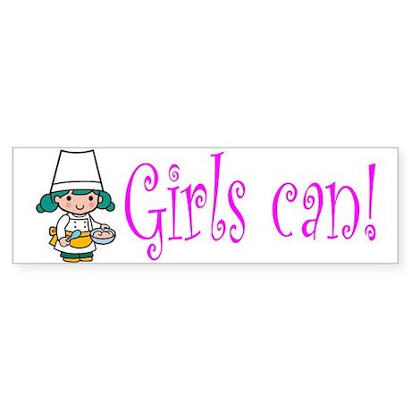 Girl Chef Bumper Sticker