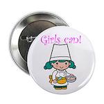 Girl Chef Button