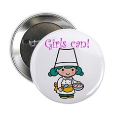 Girl Chef Button
