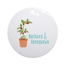 Nurtured & Homegrown Ornament (Round)