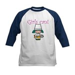 Girl Chef Kids Baseball Jersey