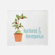Nurtured & Homegrown Throw Blanket