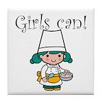 Girl Chef Tile Coaster