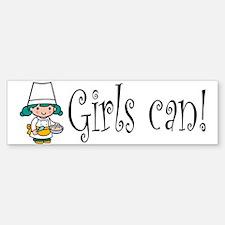 Girl Chef Bumper Bumper Bumper Sticker