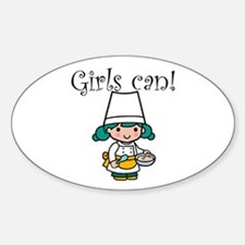 Girl Chef Oval Decal