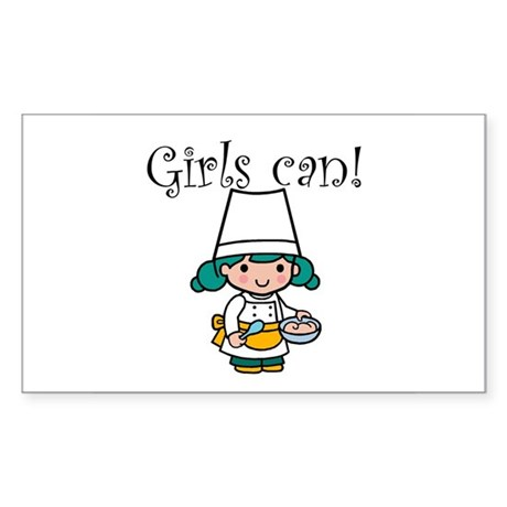 Girl Chef Rectangle Sticker