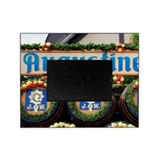 Munich. Decorated barrels of beer at Picture Frame