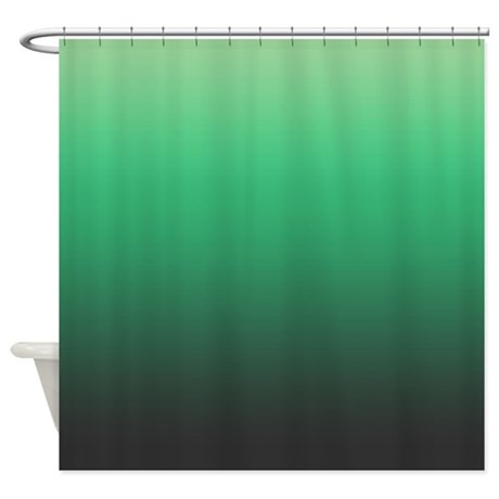 Green And Gray Shower Curtain By KinnikinnickToo