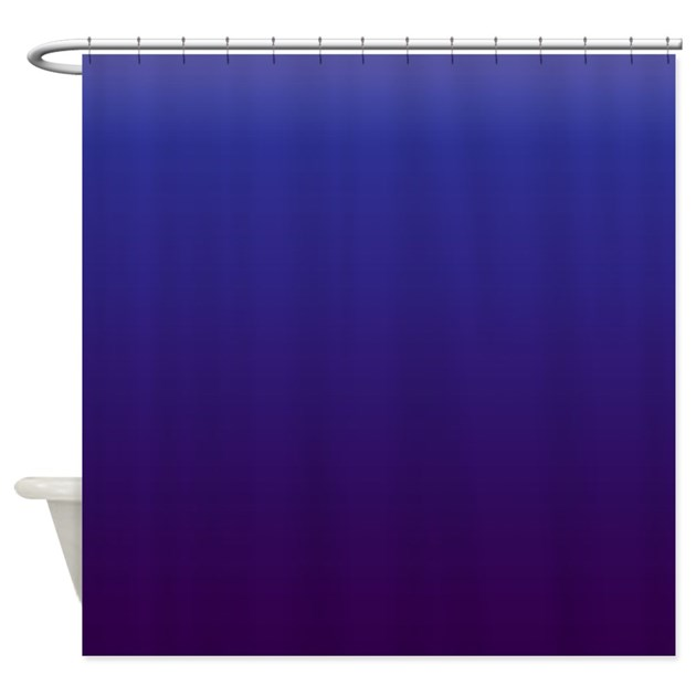 royal blue and purple shower curtain by kinnikinnicktoo