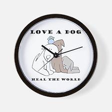 Love a Dog Wall Clock
