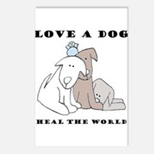 Love a Dog Postcards (Package of 8)
