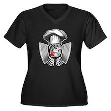 Chef Skull Butcher Plus Size T-Shirt