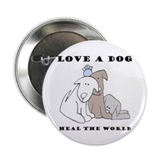 """Love a Dog 2.25"""" Button (10 pack)"""