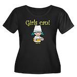Girl Chef Women's Plus Size Scoop Neck Dark T-Shir