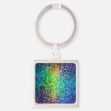 Glitter Square Keychain