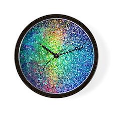 Unique Glitter Wall Clock