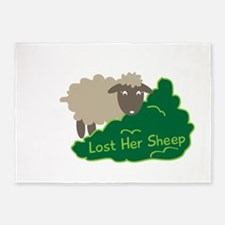 Lost Her Sheep 5'x7'Area Rug