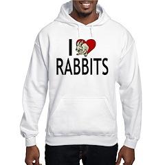 I Love Rabbits Hoodie