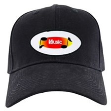 Music Note Text Baseball Hat