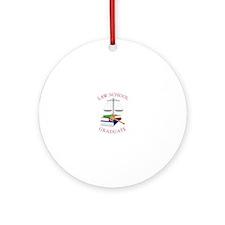 Law School Graduate Ornament (Round)