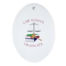 Law School Graduate Ornament (Oval)