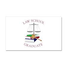 Law School Graduate Car Magnet 20 x 12