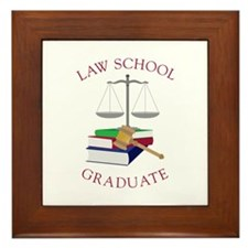 Law School Graduate Framed Tile